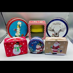 Other - Holiday Christmas Tin Bundle Lot